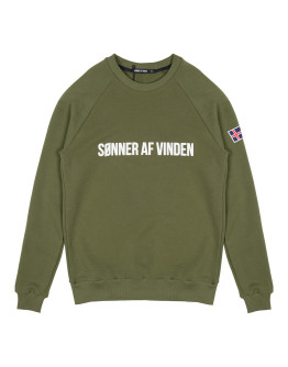 Мужской свитшот Sønner af vinden Bar logo is forest