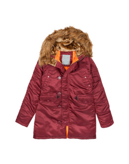 Женская парка Alpha Industries N3B VF 59 Wmn burgundy