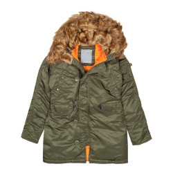 Женская парка Alpha Industries N3B VF 59 Wmn dark green