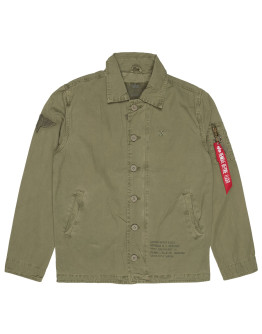 Мужская ветровка Alpha Industries Authentic Utility Custom Jacket olive
