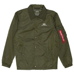 Мужская ветровка Alpha Industries Coach Jacket TT dark green