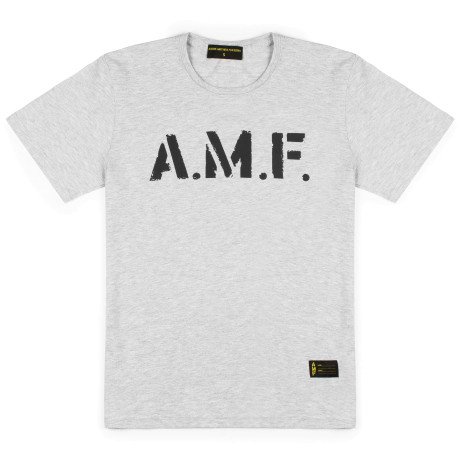 Мужская футболка AMF Company Big logo heather grey