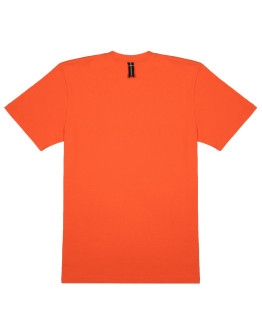 Мужская футболка Bar logo black reflective orange