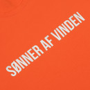 Мужская футболка Sønner af vinden Bar logo black reflective orange
