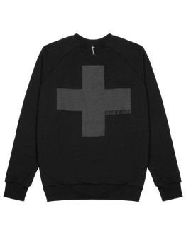 Мужской свитшот Sønner af vinden Cross shadow  black reflective