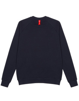 Мужской свитшот Sønner af vinden Bar logo red reflective navy