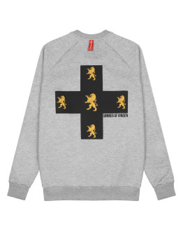 Мужской свитшот Sønner af vinden Cross lions heather grey