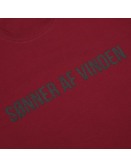 Мужская футболка Sønner af vinden Bar logo shadow reflective bordeaux