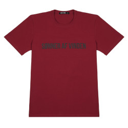 Мужская футболка Bar logo shadow reflective bordeaux