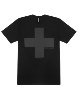 Мужская футболка Sønner af vinden Cross shadow black reflective