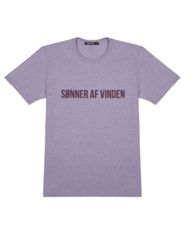 Мужская футболка Sønner af vinden Heat reactive bar logo heather purple