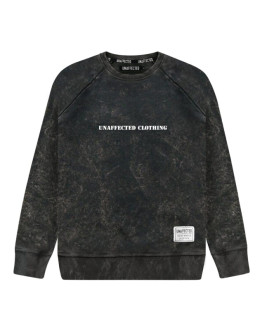 Мужской свитшот Unaffected Garment dyed black